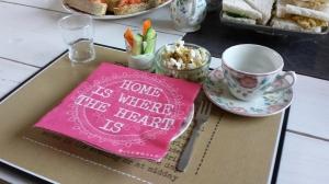 High tea groentedip en hartige popcorn