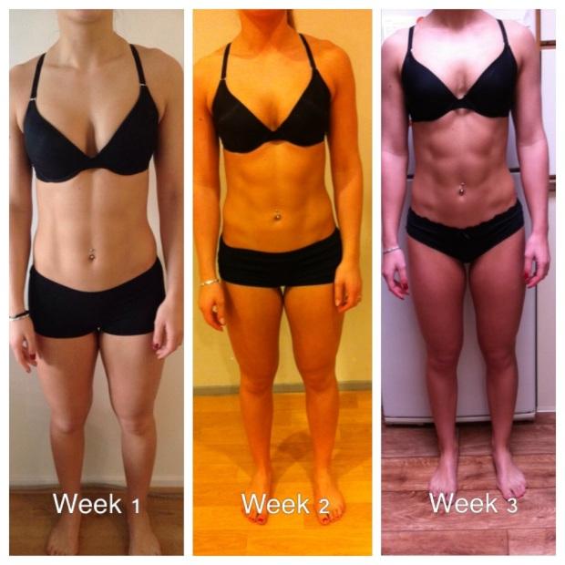 De eerste 3 weken, alleen voeding geen training. Wat een invloed heeft eten op je lichaam!